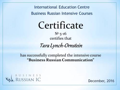 BR IC Certificate_Tara Lynch-Ornstein